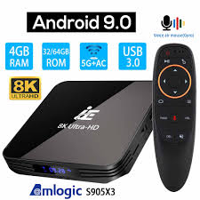 IE X3 AIR Android 9.0 8K 4K TV BOX Ultra HD XDR Youtube 1000M 5G wifi  Amlogic S905X3 4GB 32GB 64GB Set top TV BOX|Set-top Boxes