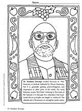 Small Picture Coloring Book of African Americans Slideshow Art Resources for