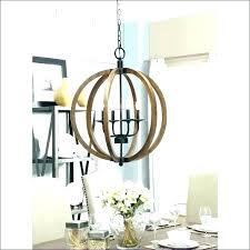 wooden rectangular chandelier
