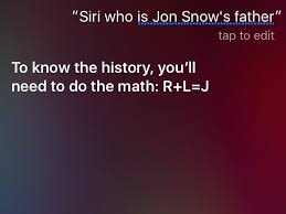 Siri Stock Quote 55 Amazing Siri Confirms Who Jon Snow's Father Is Business Insider