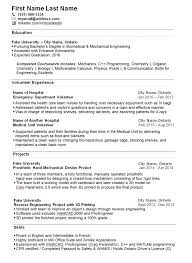 Summer Job For College Students Mechanical Engineering Sample Resume
