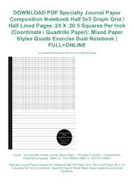 Download Pdf Specialty Journal Paper Composition Notebook