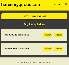 create a template support heresmyquote com heres my quotes templates and invoices