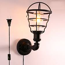loft industrial iron cage. Kiven Nostalgic Type Wall Lamp Sconces Loft Art Decoration Industrial Retro Style Iron Cage Lights