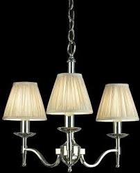 stanford 3 light chandelier with shades