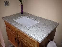 bathroom vetrazzo countertop installation