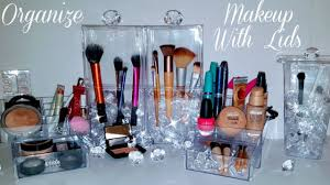 diy makeup organizer brush storage lids using dollar tree items avoid germs bacteria ggg