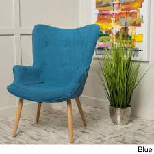 fayola mid century fabric accent chair by christopher knight home free today com 19641718