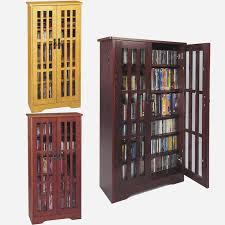media storage cabinet with doors awesome leslie dame cd storage cabinet with glass doors oak