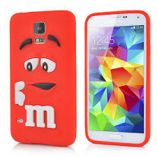 samsung galaxy s5 cute phone cases. 3d cute m\u0026m pattern silicone rubberized case cover for samsung galaxy s5 g900 - red | sw-box.com phone cases