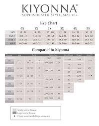 Kiyonna Dress Size Chart Fashion Forward Dressing With Kiyonna Clothing At Home