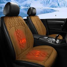 New Black Universal 12V <b>Car Seat</b> Cover <b>Cushion Seat Heating</b> ...