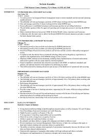 Premier Relationship Manager Resume Samples Velvet Jobs