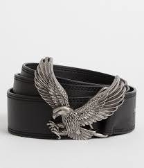 womens aquilo leather belt black image 1