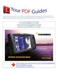 Operating Instructions Humminbird 997c Si Combo Manualzz Com