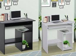compact small computer table wooden