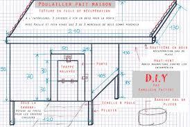 croquis schéma plan du poulailler poulailler fait maison plan poulailler poulailler 4 poules