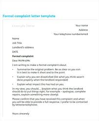 Proper Format Of A Letter Formal Complaint Letter Example How To Make A Proper Format Spacing