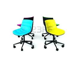 colorful office chairs. Unbelievable Colorful Office Chairs On White Background Photo Sale