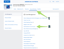 adding an authorized user for an amex card