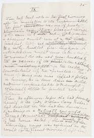 edith wharton s writing style writework english page from the original manuscript of