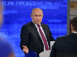 Slide Tv Show Putin Hit With Tough Questions On Tv Show As Poll Numbers Slide
