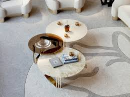 round marble coffee table for living room symphony infinity coffee table by bizzotto