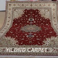 Yilong 9 x12 Oriental large area wool rug handmade exquisite