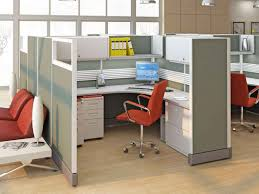 Smart And Exciting Office Cubicles Design Ideas : Fancy Cubicle Office  Design With White Fabric L ...