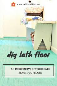 an inexpensive diy flooring idea the lath floor is beautiful and to diy
