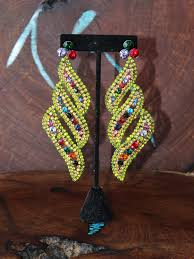 multi color statement earrings green multi color rhinestone earrings extra large rhinestone earrings