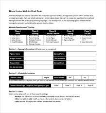 Blank Work Order Forms Templates Work Order Website Template 14 Work Order Samples Sample Templates