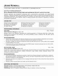 Store Manager Resume Sample Sample Resume for Experienced Banking Professional Inspirational 99