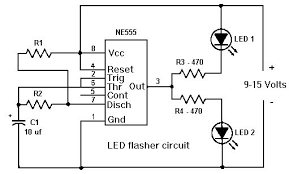 555 timer led flasher circuit electronics and technology 555 timer led flasher circuit electronics and technology electronics and led