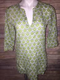 Rock Paper Flower Tunics Details About Rock Flower Paper Green Gray Kurta Cotton Tunic Sz S 3 4 Sleeve Coverup