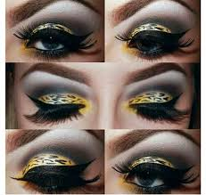 leopard eye makeup perfect for