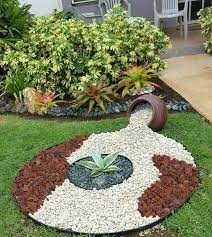 garden design with decorative stones