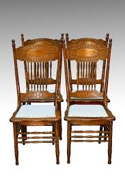 sold antique set of 4 larkin 1 press back chairs antique furniture antique dining rooms and dining chairs