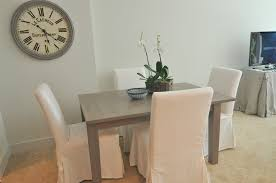 weathered gray dining table view full size
