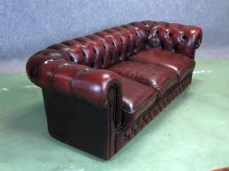 vine chesterfield sofa in leather sold