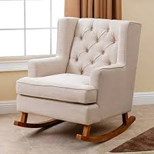 padded rocking chair. Fine Chair Abbyson Living Thatcher Fabric Rocking Chair In Beige Intended Padded O