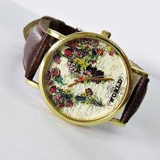 the world in full bloom map floral watch vintage style leather the world in full bloom map floral watch vintage style leather watch women watches