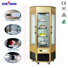 aluminum alloy glass door cake cabinet showcase with rotating for cake