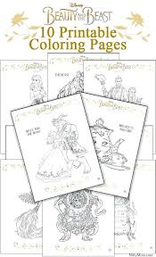 Beauty And The Beast Color Pages Printable Beauty And The Beast Rose