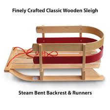 wooden sleigh sled outdoor flexible flyer baby pull sled wood toddler to boggan