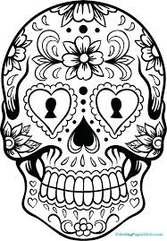 Fresh Colored Sugar Skull Coloring Pages Doiteasyme