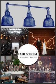 industrial wedding style with 3 light pendants for outdoors