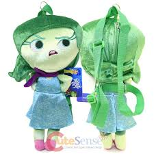 Backpack Pillow Disney Inside Out Disgust Plush Doll Backpack Pillow Cushion Soft