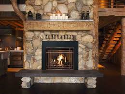 stone fireplace hearth ideas photo