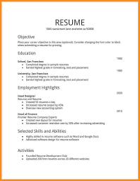 Job Resume Example For First Job 60 First Time Job Resume Examples Parts Of Resume First Time Job 3